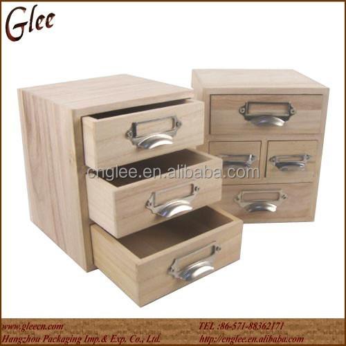 Kleine massivholz aufbewahrungsbox aus holz schubladenbox - Boite de rangement maison du monde ...