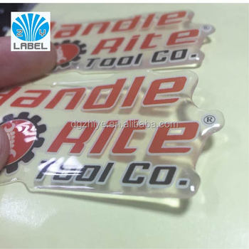 Epoxy Resin Label Stickers Clear Background Labels Full Color Printing Non Toxic