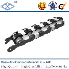 2060VRP producing line conveyor plastic roller double plus chain with snap cover