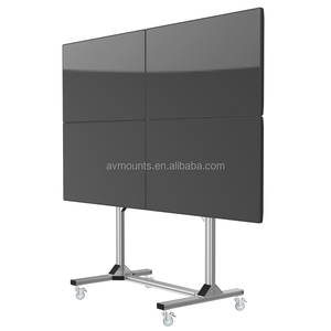 Universal Free standing vesa 4 screens lcd led moveable video wall lcd tv mount parts