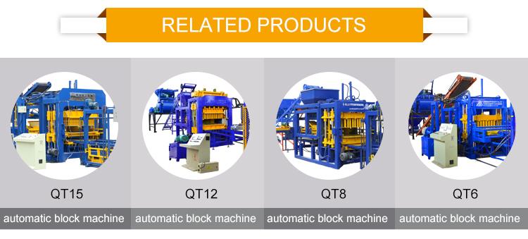 QT10-15 otomatik hidrolik pres beton çimento hollow kilitleme kaldırım taşı yapma makinesi
