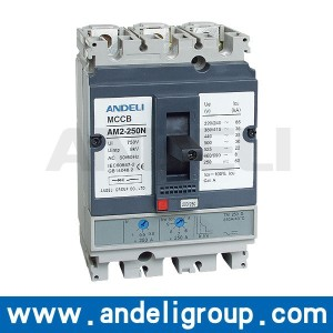 ANDELI Moulded Case Circuit Breaker AM2-250 amp mccb circuit breaker generator mccb 300 amp circuit breaker price list