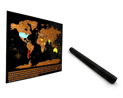 Commercio all'ingrosso su misura design deluxe scratch map oem