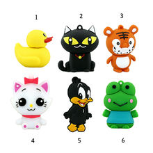 2016 Silicone Frog duck USB Flash Drive Pen Drive CAT font b Pendrive b font Memory
