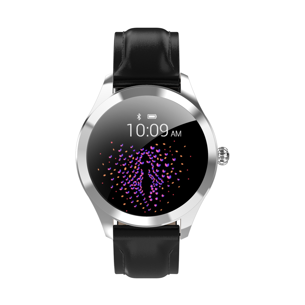 Factory DirectlyIP68 waterproof Stainless Steel+ Leather Material and Smart Watch Product name KW10