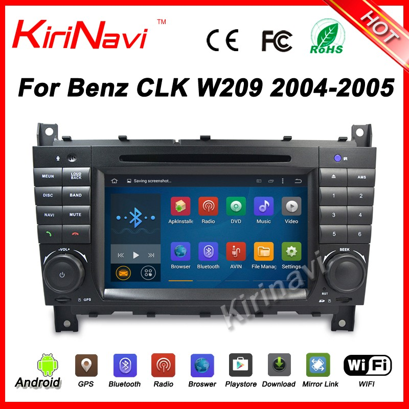 Kirinavi WC-MB7508 android 5.1 car auido player for benz clk w209 2004-2005 gps navigation dvd multimedia system wifi 3g bt