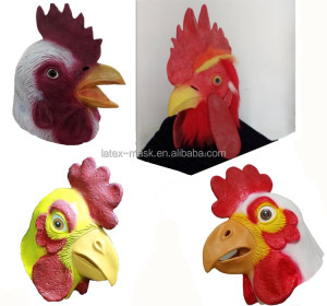 High Quality Halloween Fancy Dress Costumes Animal Mask Rubber Latex Cock Mask