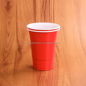 16oz Disposable Plastic Red Beer Pong Cups for Free Sample