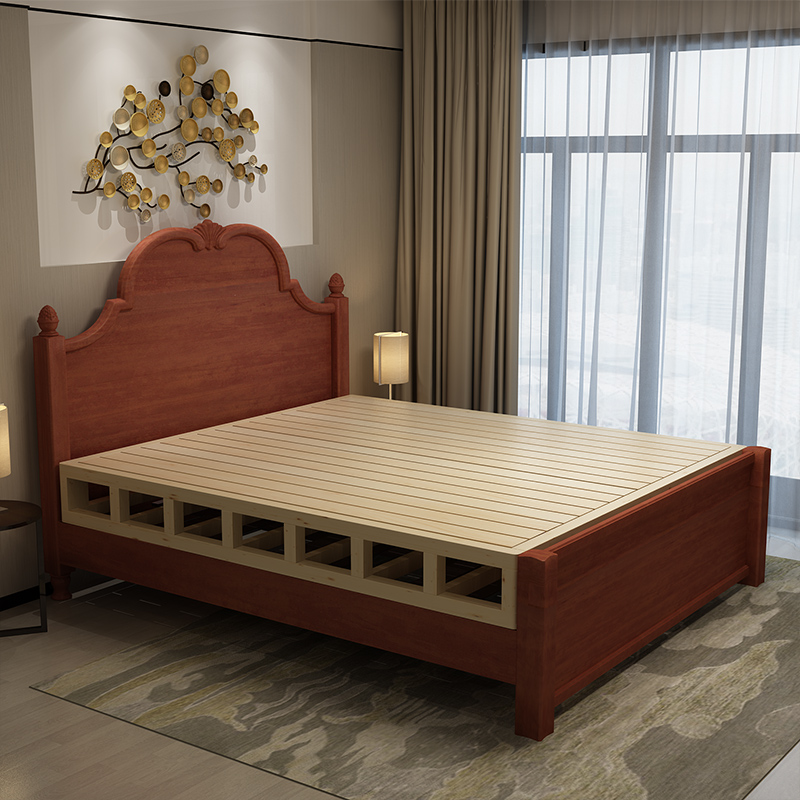 SC0173 ecológico de madera maciza bedstock cama bastidor base-Camas ...