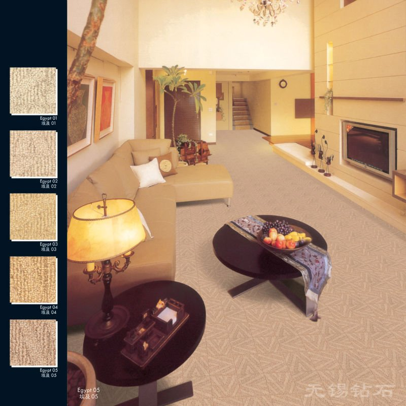 Pure wool carpet for high grade clubs,luxury golf club carpet, wall to wall tufted carpet manufacturer--Egypt