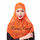 Scarf Islamic Design Print Scarf Print Lace 2 Piece Amira Hijab Muslim Scarf Head Covering Inner Caps Islamic Hat Popular Shawls