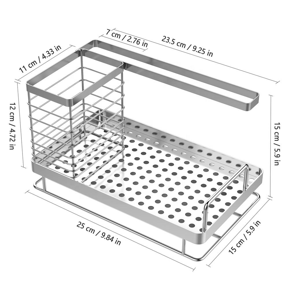 Toptan sünger tutucu mutfak lavabo organizatör havlu askısı
