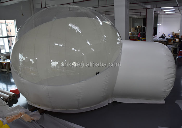 Best price pvc camping inflatable bubble tent transparent / circular drawing tent / clear tent