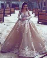 Wholesale best hot sales champagne color luxury pakistani turkey custom wedding dress bridal gown