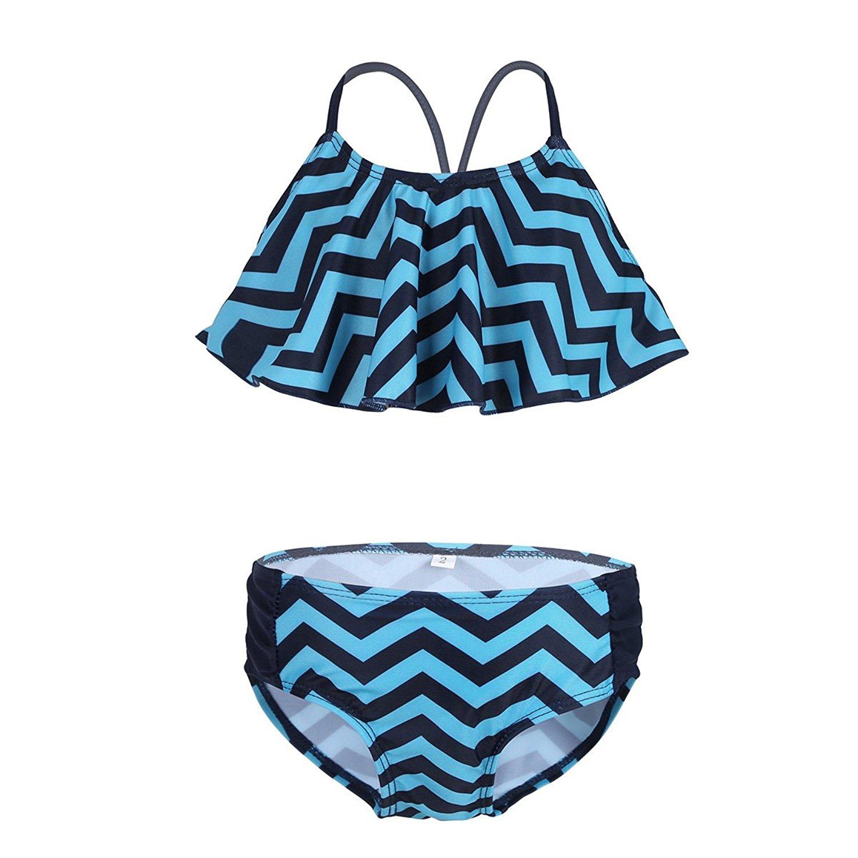 YiZYiF 2PCS Girls Kids 2 Piece Tank Tops and Boyshort Tankini Summer Sporty Style Swimsuit Swimwear Set
