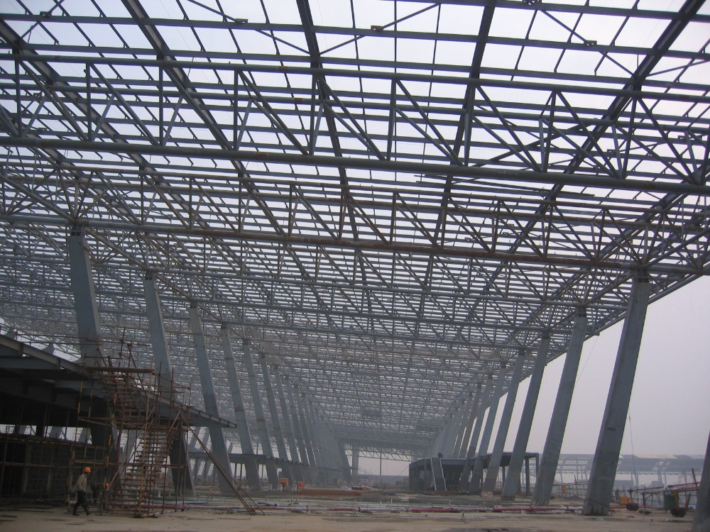 Aircraft Hangar Building Space Frame Steel Truss Roof