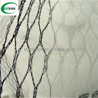 Black / white quad cross netting anti snow anti bird netting orchard anti hail net for agriculture