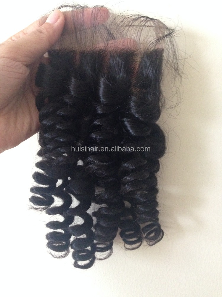Golden supplier new arrival virgin hair Brazilian full cuticle Malaysian curly hair with closure