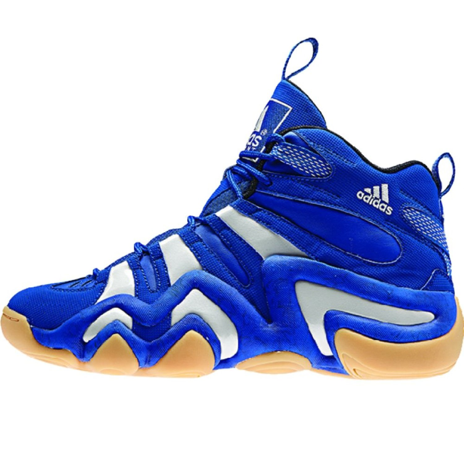 new product c0f4f c51dc Get Quotations · Crazy 8 Mens in RoyalWhiteGum by Adidas, 11.5