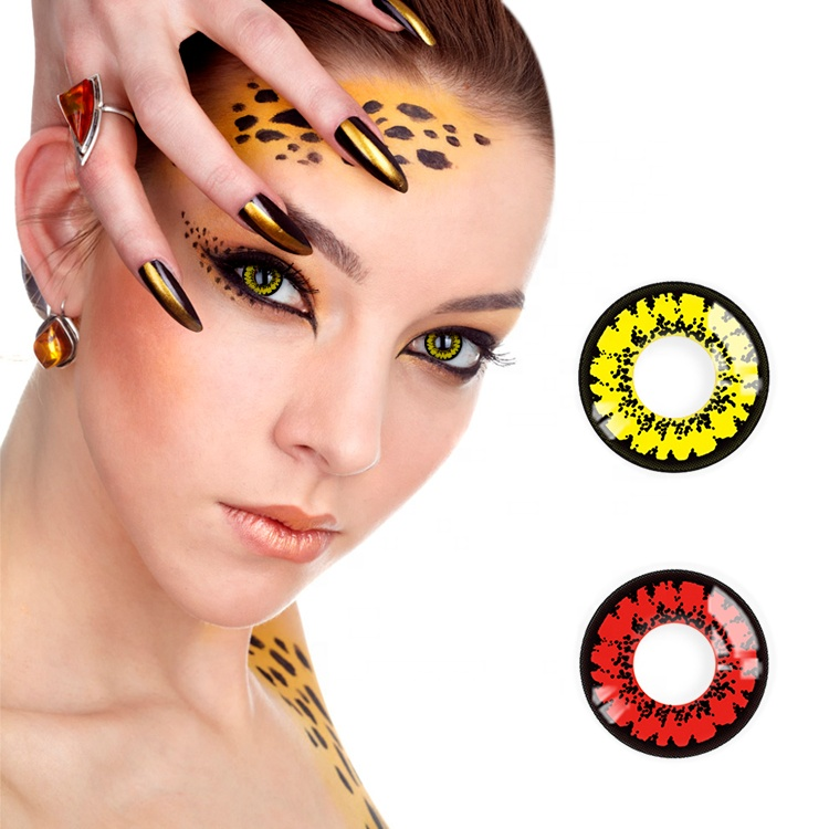 Realcon Manufacturer Wholesale Halloween Color Contact Lenses Cosplay Contact Lenses Literary and artistic Contact Lenses фото