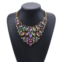 best selling handmade vintage fancy fashion bright stone necklace for women