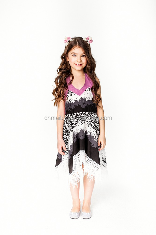 feather printed dress frocks designs in india for girls