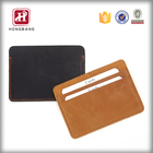 Leather Wallet Card Holder Wallet Slim Leather RFID Blocking Front Pocket Wallet Thin Card Holder