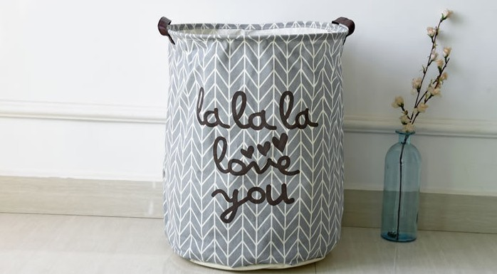 Art canvasFoldable Cotton Linen Washing Clothes Laundry Basket Bag Hamper Storage Toys