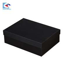 Carton shoes paper box packaging black color with logo