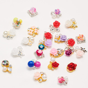New Arrival 3D High Quality Colorful Resin Flower Nail Art Decoration