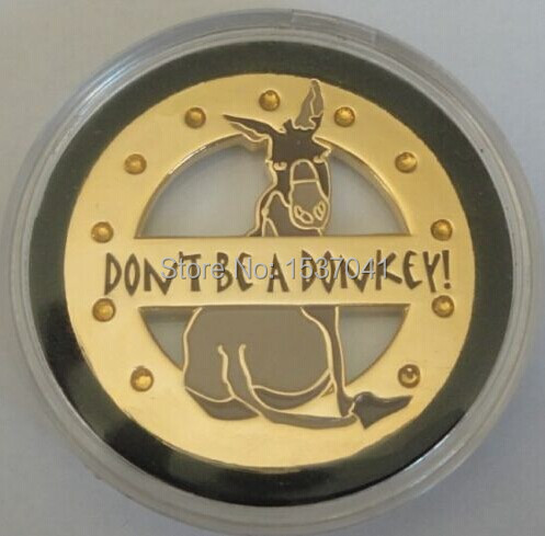 DON'T BE A DONKEY Spinner Poker Card Guard Cover Protector ...
