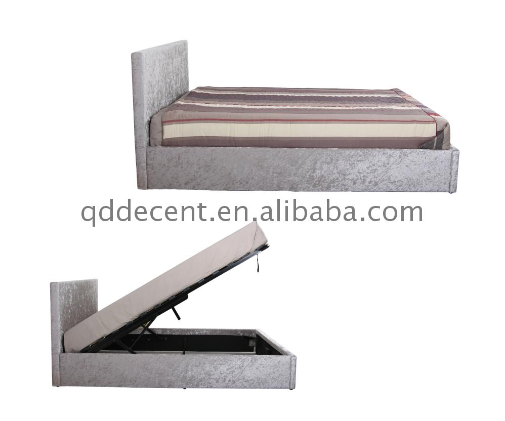 colorful metal latest Silver Storage Gas Lift Bed for india