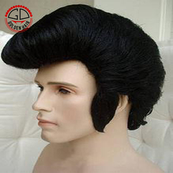 Golden Hair Heat Resistant Synthetic Cosplay Scene Short Hair Wig Men Elvis Wig Buy Short Hair Wig Men Short Brown Cosplay Wig Scene Hair Wig
