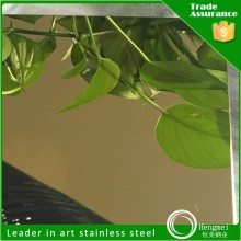 free samples gold mirror etched stainless steel 304l for corridor boat for sale