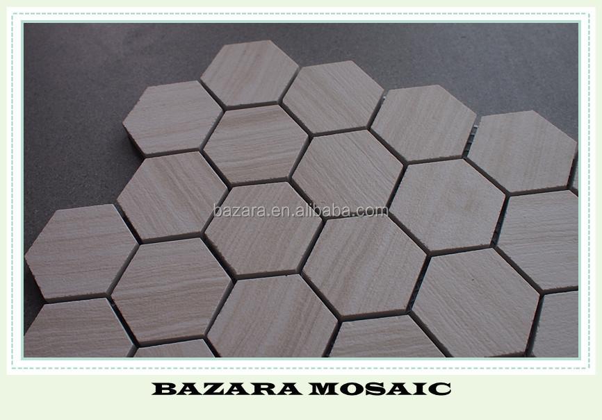 Rombo combinazione tile esagono piastrelle con modello di fiore