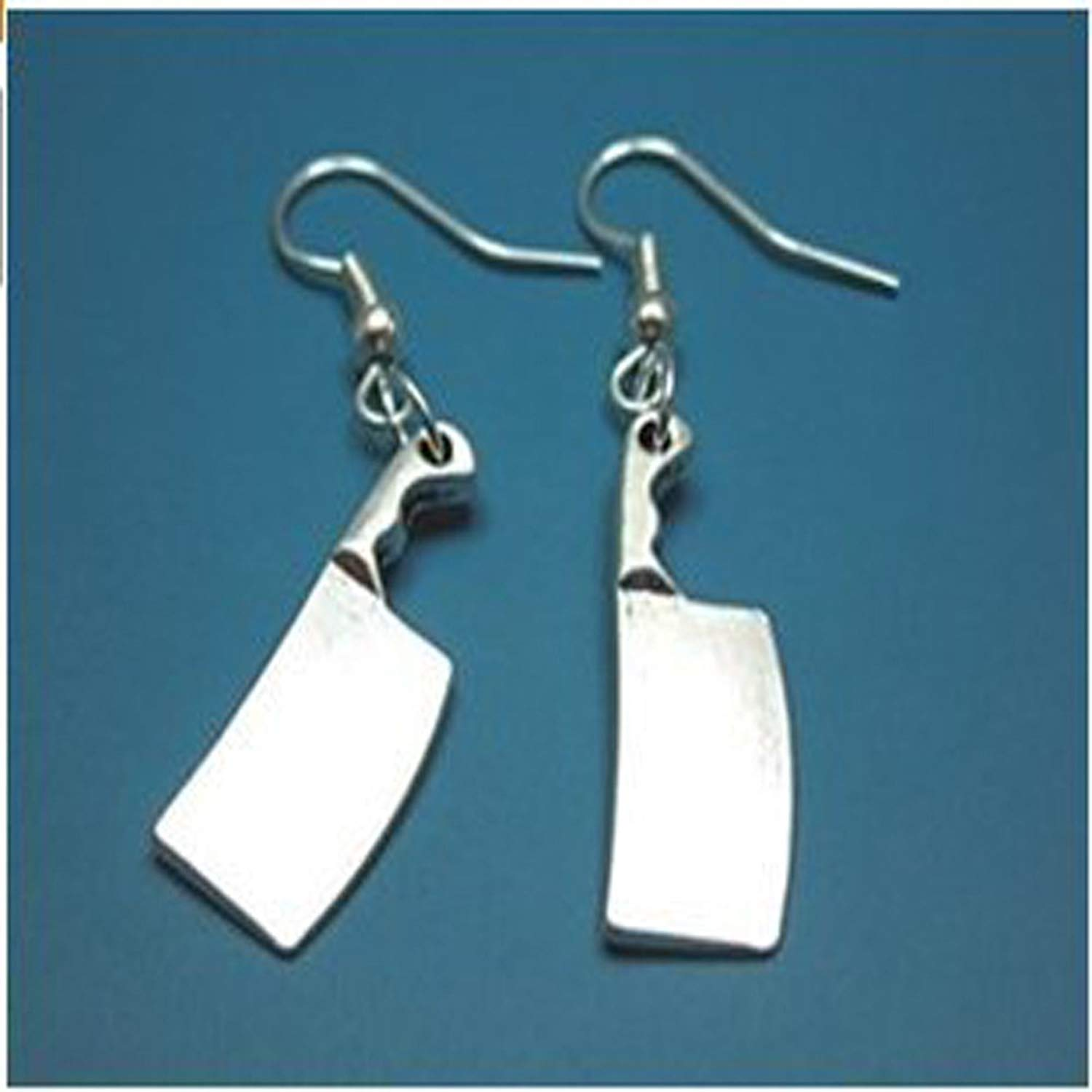 bafc043fc Get Quotations · Butcher Knife Earrings - Zombie Weapon Creepy Cute  Earrings Scary Horror Jewelry Quirky Funky Earrings Geek