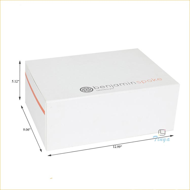white rigid cardboard large gift boxes for clothes