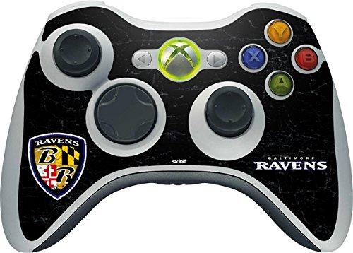 NFL Baltimore Ravens Xbox 360 Wireless Controller Skin - Baltimore Ravens - Alternate Distressed Vinyl Decal Skin For Your Xbox 360 Wireless Controller