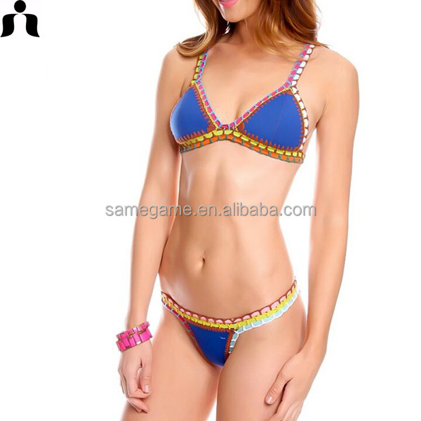 2017 populaire sexy filles main crochet bikinis