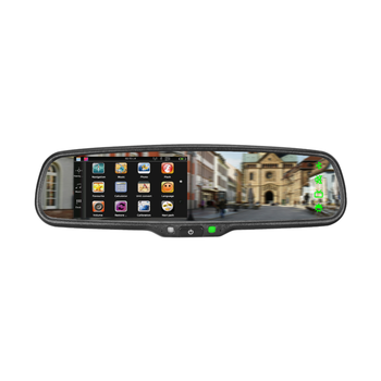 Smart Car Gps Navigation Rear View Mirror Monitor With Bluetooth And