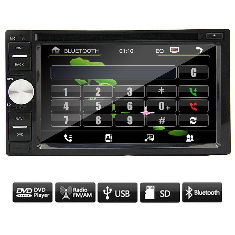new 6 2 2 din touchscreen car no gps dvd player bluetooth. Black Bedroom Furniture Sets. Home Design Ideas