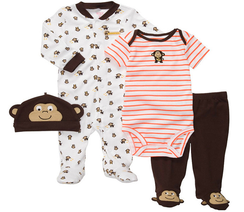 7718e7d25 Buy Brand Carters Baby boys newborn-3 months monkey striped orange outfit  set 4pcs infantil sleep & play clothing outfits in Cheap Price on  Alibaba.com