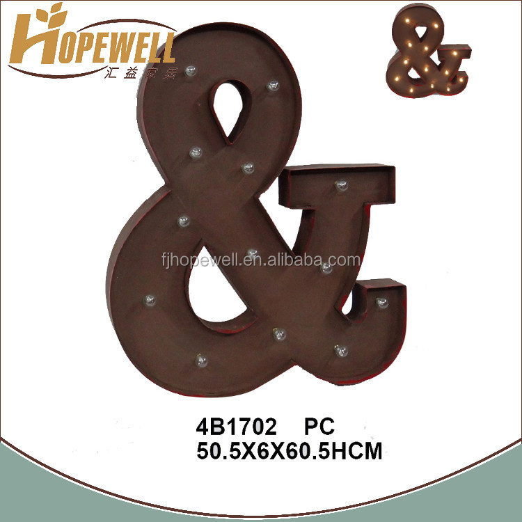 Marquesina de metal las letras del alfabeto led de la for Letras decoracion metal