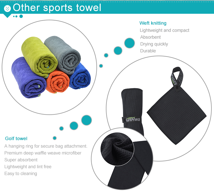 Wholesale Custom Printed Microfiber Travel Sports Towel Custom Logo