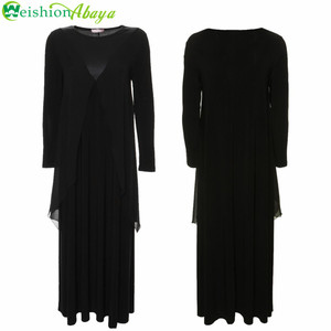 WS2184 Long Abaya Islamic Turkish Muslim Dress