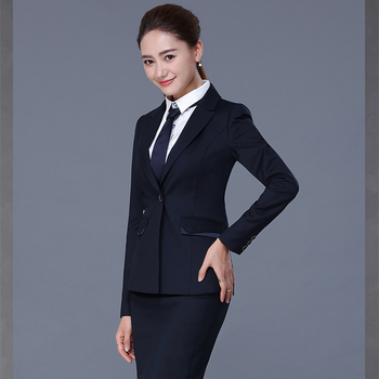 Women Formal Office Skirt Wear Suit Las Coat