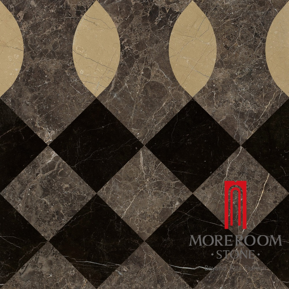 England Style Marble Flooring Border Designs Floor Laminate