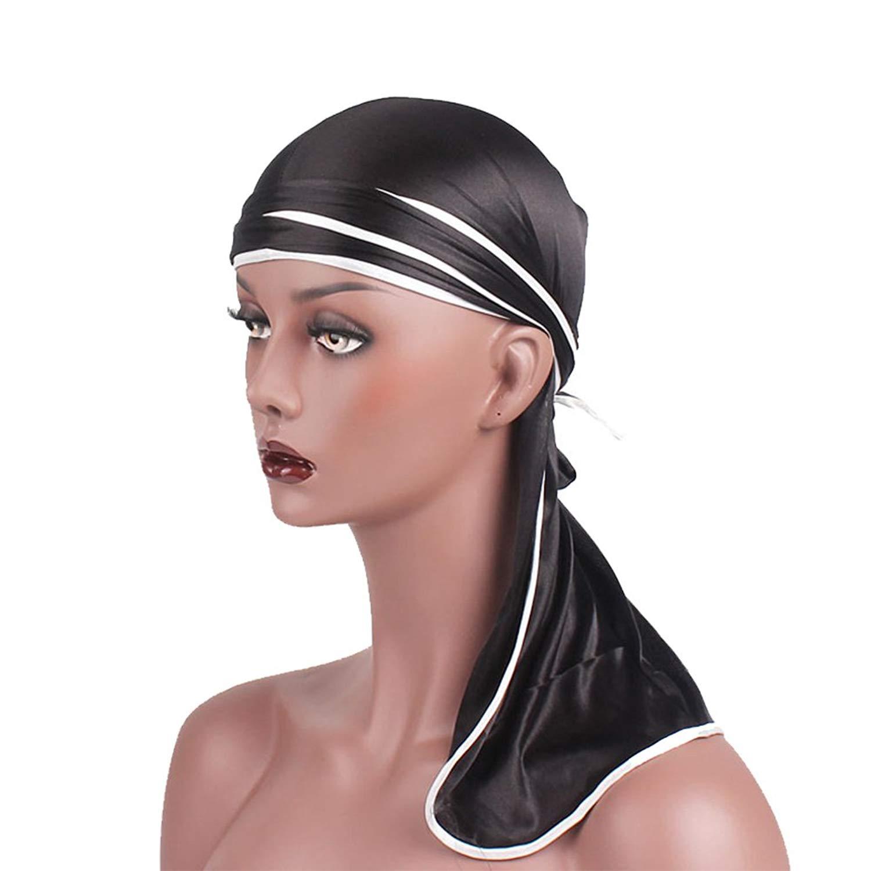 Customized Mens Print Durags Turban Bandanas Men Durag Breathable Doo Rag Headwear Wig Cap Hair Accessories Du Rag Apparel Accessories