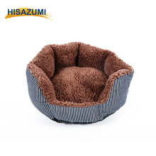 Wholesale Plush Puppy Cats Round Washable Dog Bed for Pet