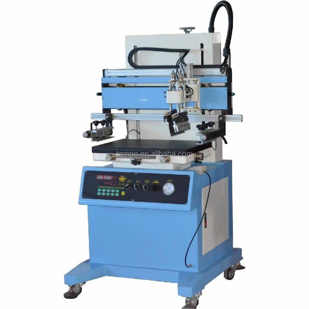 Microprocessor controls, high automation and easy operationof screen printer machine Plane vacuum screen printer machine